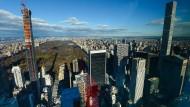 """Freie Sicht für Milliardäre: Blick aus dem Penthouse des neuen Wohnturms """"53W53"""" auf den New Yorker Central Park"""