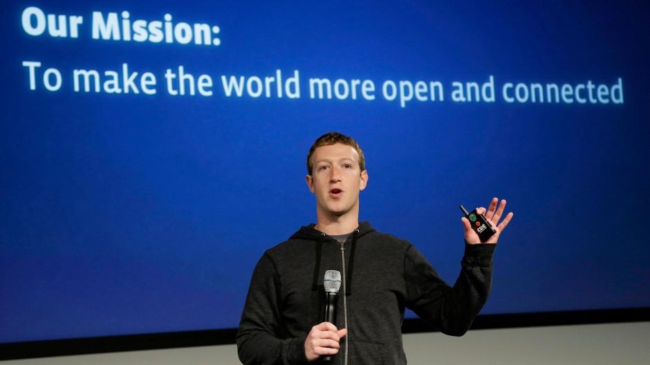 Ganz offen für mehr Werbung: Facebook-Chef Zuckerberg am Donnerstag in Menlo Park
