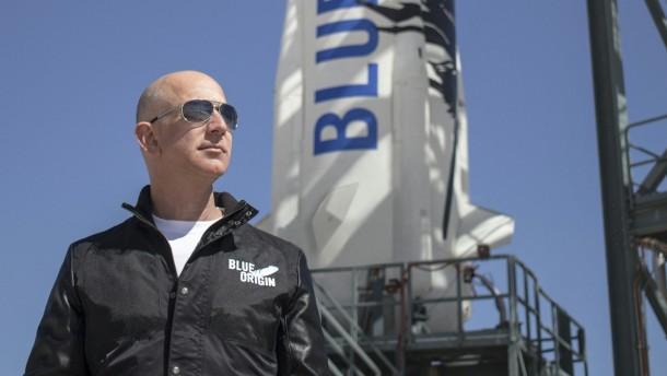 Bezos ins All abgehoben