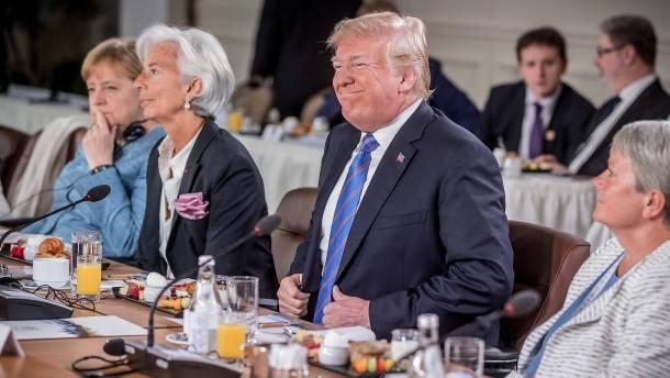 Der Präsident mimt den großen Freihändler