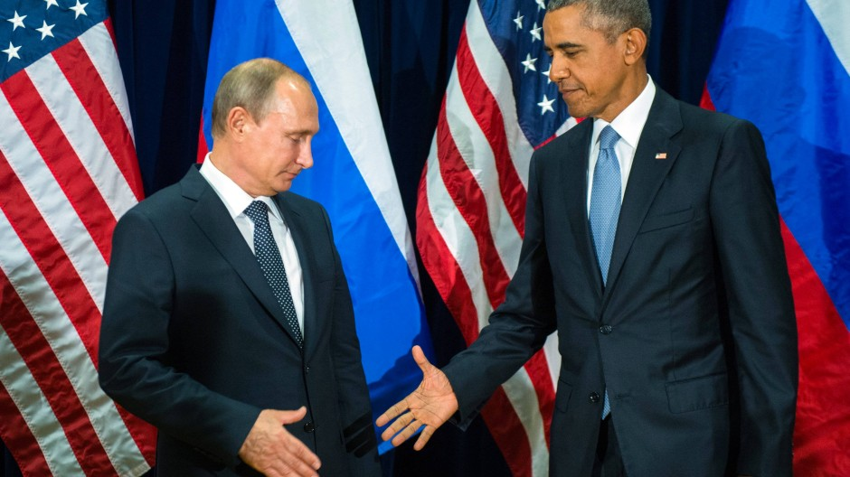 Russlands Präsident Putin und Barack Obama beim Treffen der Vereinten Nationen im September vergangenen Jahres.