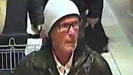 Eine Überwachungskamera hat den mutmaßlichen Täter aufgezeichnet. Die Brille trägt er womöglich zur Tarnung.