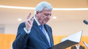Bouffier wieder zum hessischen Regierungschef gewählt