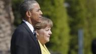 Obama zu Deutschland-Besuch in Hannover eingetroffen