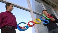 Die Google-Gründer Larry Page und Sergey Brin