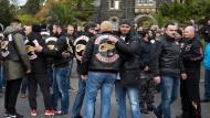 Letzte Ehre: Viele Rocker, auch aus dem europäischen Ausland, nahmen an der Trauerfeier für Aygün Mucuk in Gießen Teil.