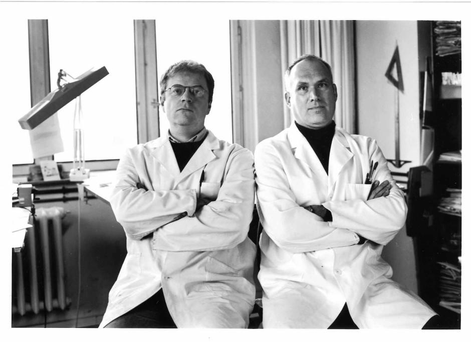 Achim Greser (links) und Heribert Lenz in ihrem Aschaffenburger Atelier.