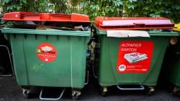 Wie wird Müll richtig getrennt?