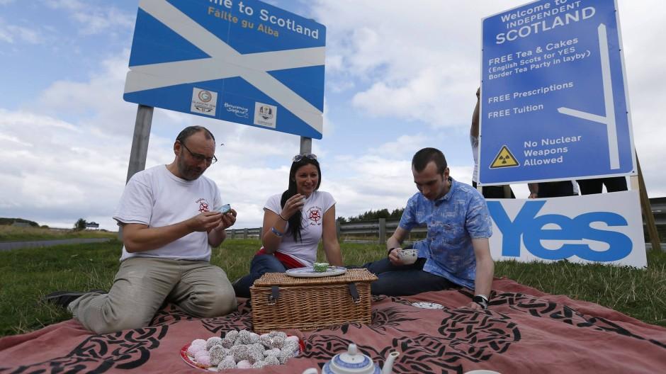 Zuversichtlich vor dem Referendum: Befürworter einer Unabhängigkeit Schottlands
