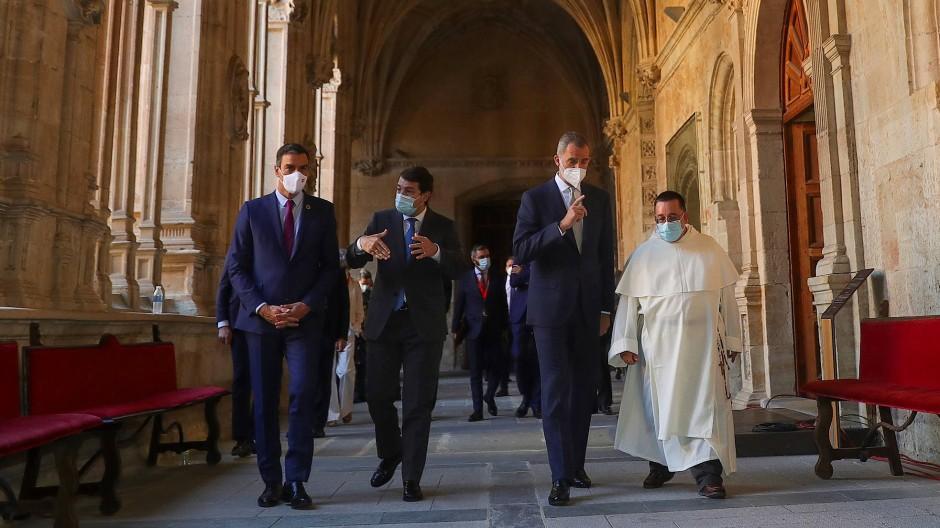 """Spannung trotz der Anwesenheit von Spaniens König Felipe: die """"Konferenz der Präsidenten"""" am Freitag in Salamanca"""