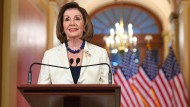 Nancy Pelosi am Donnerstag im Capitol in Washington.