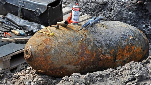 50 Kilo schwere Fliegerbombe entdeckt