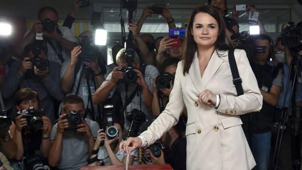 Oppositionspolitikerin Tichanowskaja will Regierung in Belarus anführen