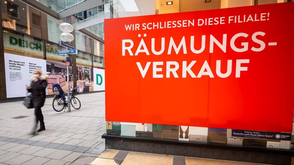Die Münchner Innenstadt ist leer Anfang Januar.