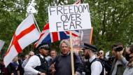 Demonstration gegen die Corona-Beschränkungen im Londoner Hyde Park