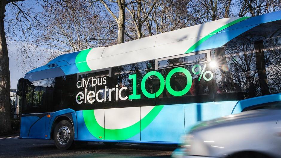 Bald in Frankfurt unterwegs: E-Bus