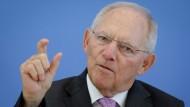 Hält die europäische Linie für verbesserungswürdig: Finanzminister Wolfgang Schäuble
