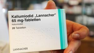 Deutschland bestellt rund 190 Millionen Jodtabletten