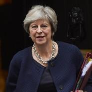 Die britische Premierministerin Theresa May am Mittwoch in London