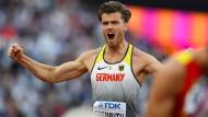 Kraftvoll: Über den Fußball will Freimuth wieder zum Zehnkampf finden.