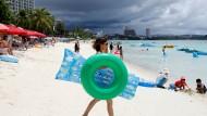 Bewohner auf Guam bleiben gelassen
