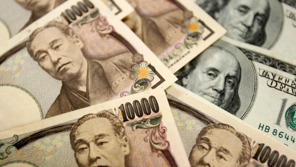 Dollar und Yen gestärkt