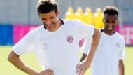 Entspannte Bayern vor der ersten Partie