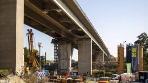 Salzbachtalbrücke bei Wiesbaden bleibt gesperrt