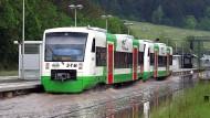 In Plauen in Thüringen standen zu Beginn der Woche bereits einige Bahnstrecken teilweise unter Wasser.