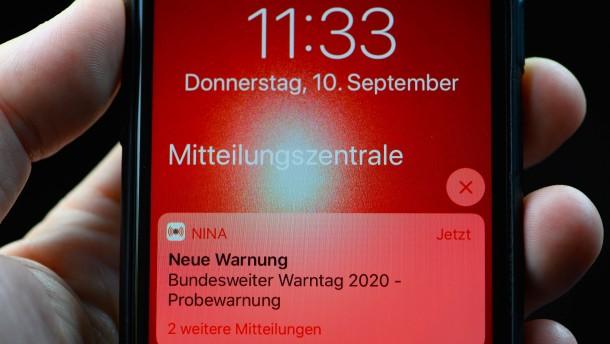 Bundesweiter Warntag für dieses Jahr abgesagt