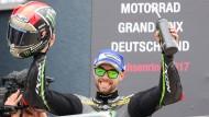 Jonas Folger ist beim MotoGP-Rennen auf dem Sachsenring auf Platz zwei gefahren.