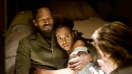 """Reverenz an die Brünnhilde-Legende aus dem """"Ring des Nibelungen"""": Die Frau von Django (Jamie Foxx) heißt in Tarantinos Film Broomhilda und wird von Kerry Washington gespielt."""