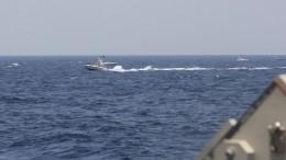 Heranrasende iranische Schnellboote: US-Schiffe feuern Warnschüsse