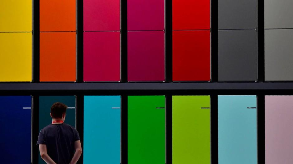 Auf der IFA stellt Bosch unter anderem seine neuen Kühlschränke vor.