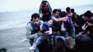 """Gewinner in der Kategorie """"Zeitgeschehen"""" ist Angelos Tzortzinis mit seiner Serie """"In Search of the European Dream"""". Sie beschäftigt sich mit der Flüchtlingskrise."""