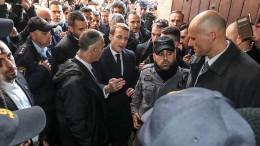 Wortgefecht zwischen Macron und der israelischen Polizei