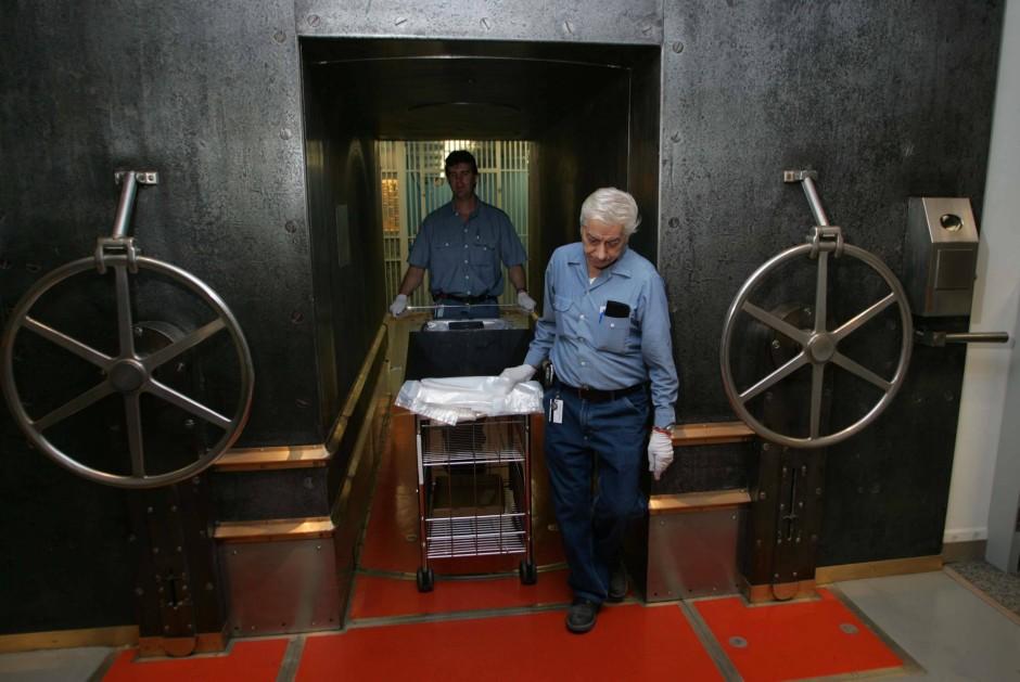 80 Fuß unter der Erde im Fels von Manhattan: In diesem Tresor der Fed soll deutsches Gold liegen