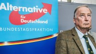 AfD-Fraktionsvorsitzender Alexander Gauland Ende September im Bundestag
