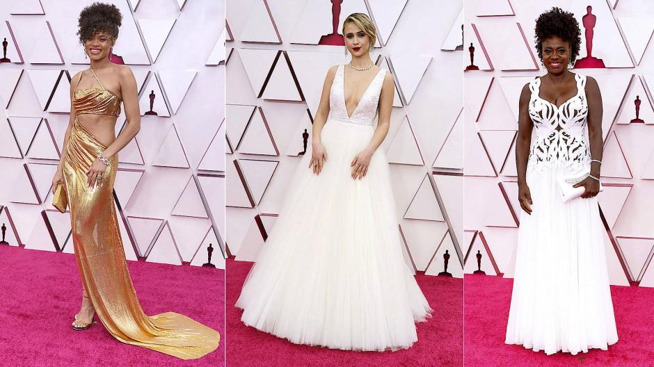 Andra Day, Maria Bakalova und Viola Davis: Die Oscars 2021 stellten unter Beweis, dass Hollywood trotz Pandemie glamourös bleibt.