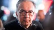 Sergio Marchionne, Vorstandsvorsitzender von Fiat Chrysler nach der Präsentation eines neuen Jeep-Modells auf der NAIAS im Januar in Detroit.