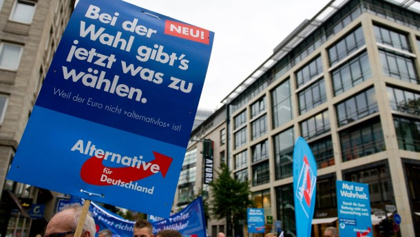 AfD-Demonstration in Düsseldorf