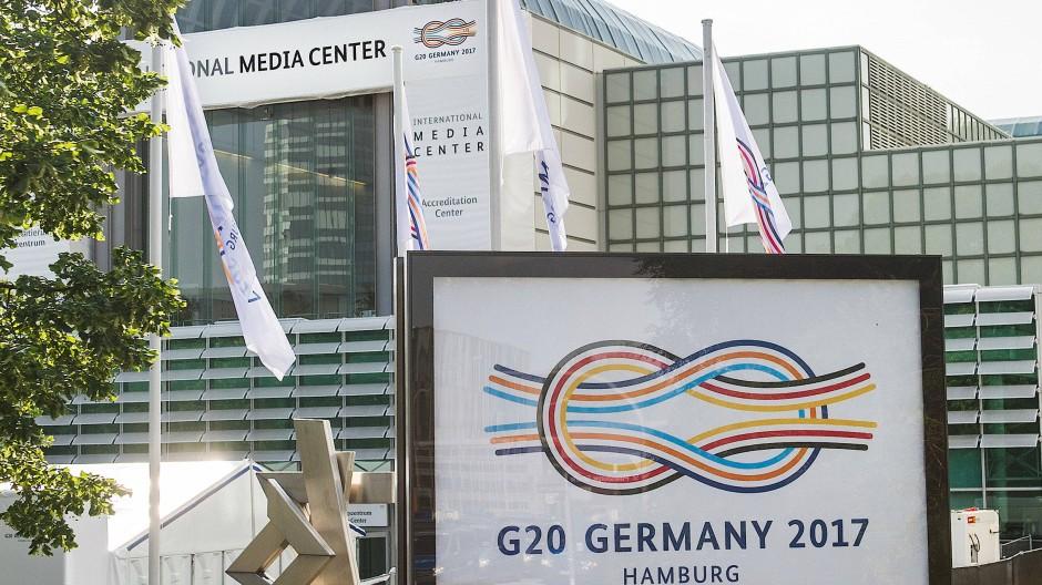 Das Medienzentrum für Journalismus, das anlässlich des G-20-Gipfels in Hamburg eingerichtet wurde.