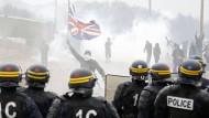 Zusammenstöße am Flüchtlingslager in Calais