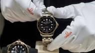 Noch nicht aus dem Biosteel-Material: die Uhr Omega Seamaster auf der Baselworld