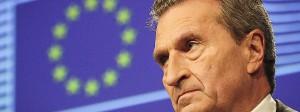 EU-Kommissar Günther Oettinger (hier Mitte Januar in Brüssel)  will im drohenden Haushaltsstreit mit Amerika nicht die eigenen Zölle senken.