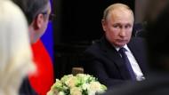 """""""Grundlose Annahmen"""": Wladimir Putin mit dem serbischen Präsidenten am Mittwoch in Sotschi."""