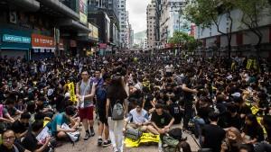 Ein Stich ins Herz Hongkongs