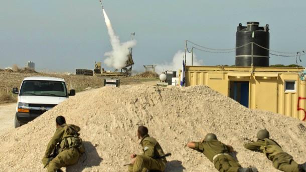 Feature israelische Soldaten Raketenabwehrsystem
