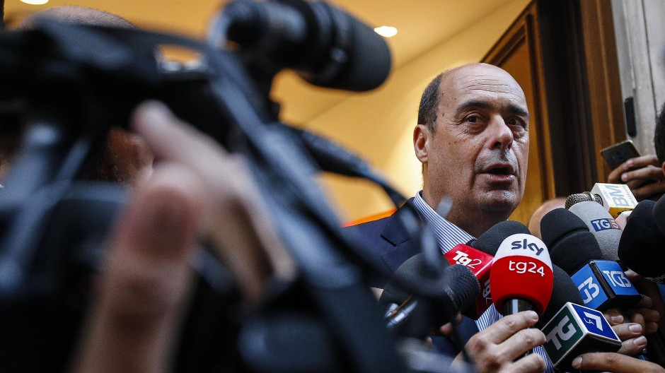 """Der Weg zu einer neuen Regierung sei """"kein Spaziergang zum Vergnügen"""", sagt PD-Chef Nicola Zingaretti."""