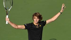 Zverev siegt in Montreal gegen Roger Federer
